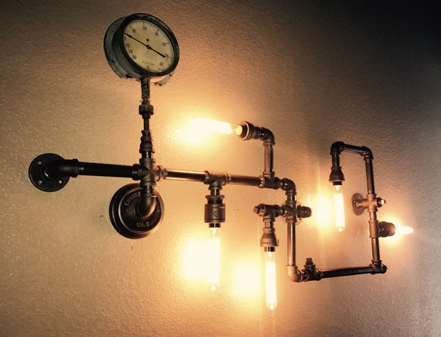 Steampunk light fixture
