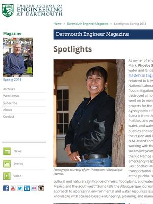 Dartmouth Engineer Magazine - Spotlights