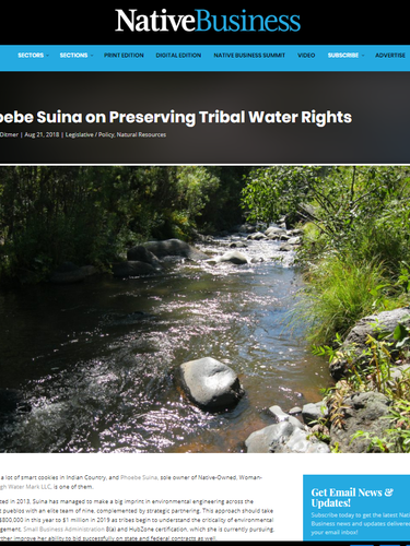 Native Business - Preserving Tribal Water Rights