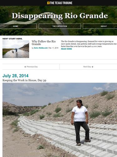 TexasTribune - Dissappearing Rio Grande