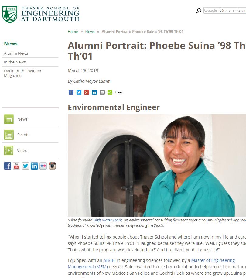 Alumni Portrait: Phoebe Suina