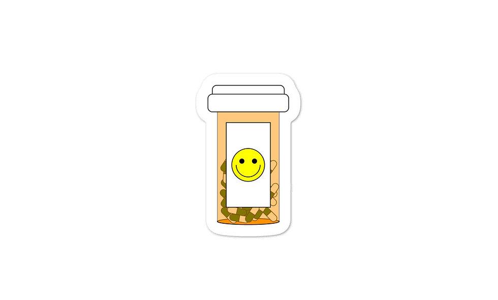 """""""Happy Pills"""" sticker"""