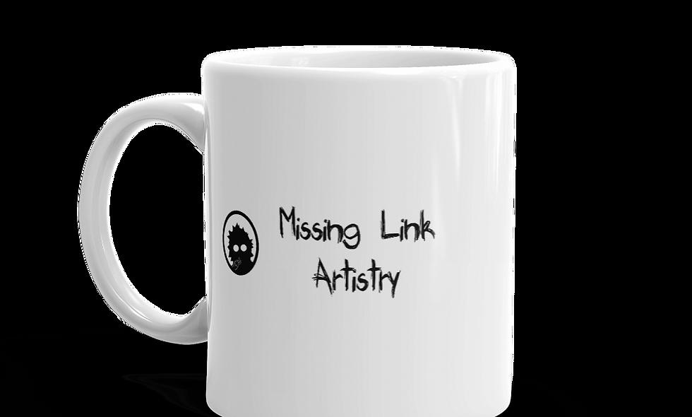 Missing Link Artistry mug -- Logo with Wordmark (Right handed)