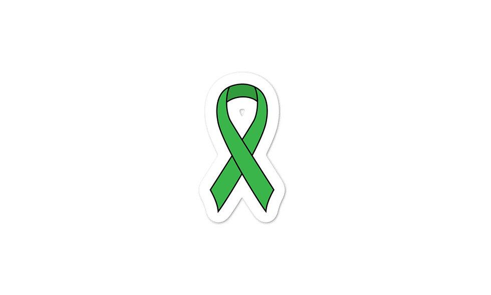 """Green Awareness Ribbon"" sticker"