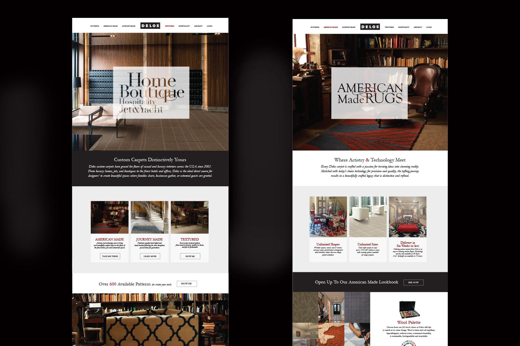 Website for High End Carpet Maker