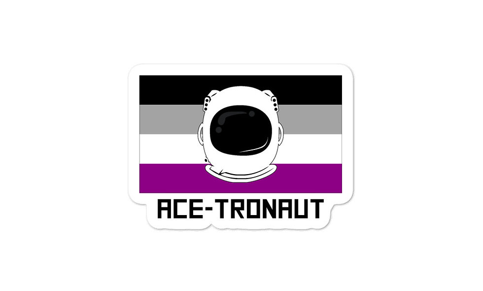 """Ace-tronaut"" sticker"
