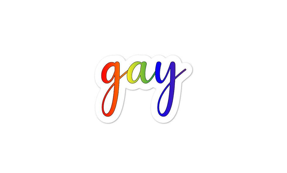 """Gay cursive"" sticker"