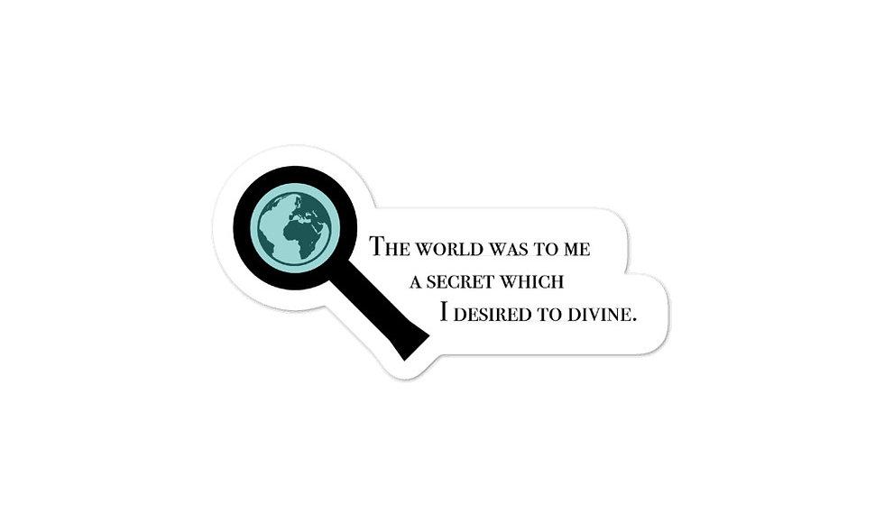 """The World Was a Secret"" sticker"