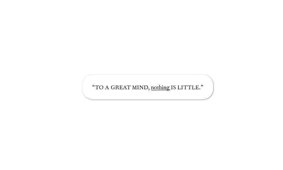 """To A Great Mind"" sticker"