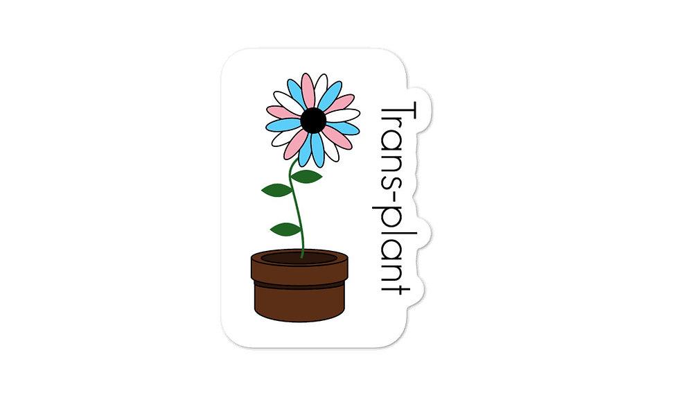 """Trans-plant"" sticker"