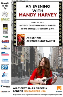 Mandy Harvey Concert Poster