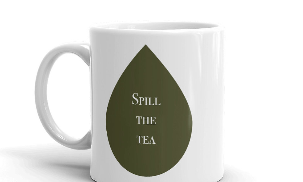 """Spill the Tea"" mug (Right-handed)"