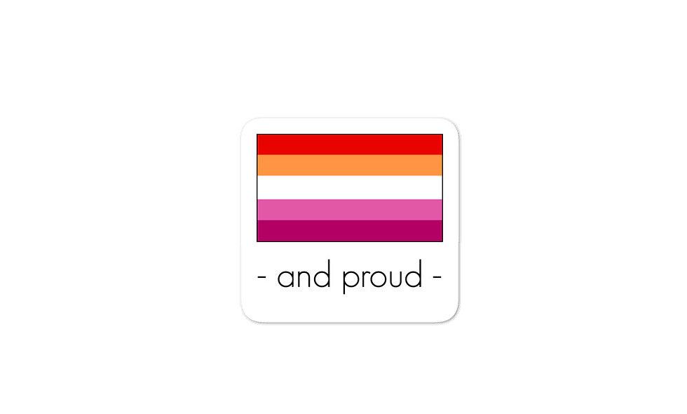 """Lesbian Pride Flag"" sticker"