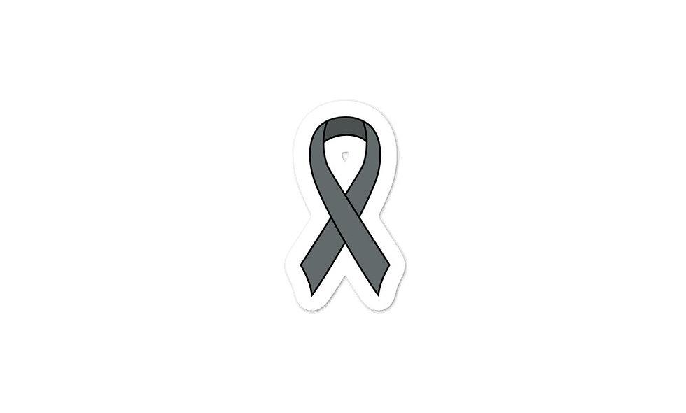 """Gray Awareness Ribbon"" sticker"