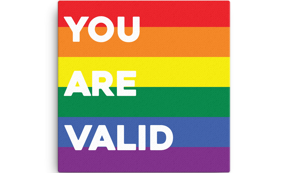 """""""You are Valid"""" canvas"""