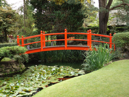 Bridge in Irish National Stud Gardens