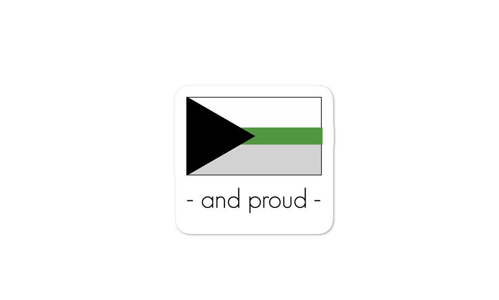 """Demiromantic Pride Flag"" sticker"