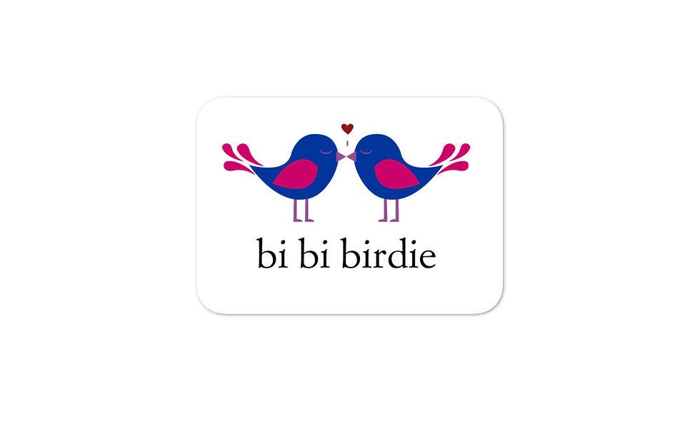 """Bi bi birdie"" sticker"