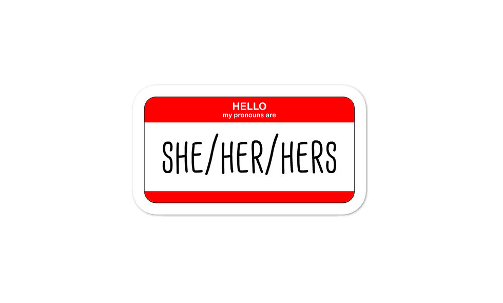 """She/Her/Hers"" sticker"