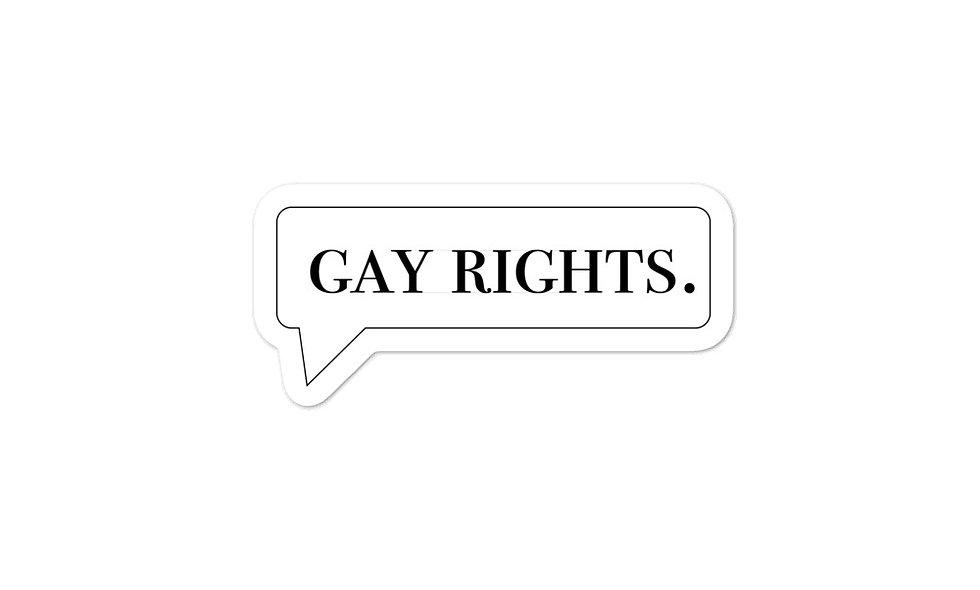 """Gay rights"" sticker"