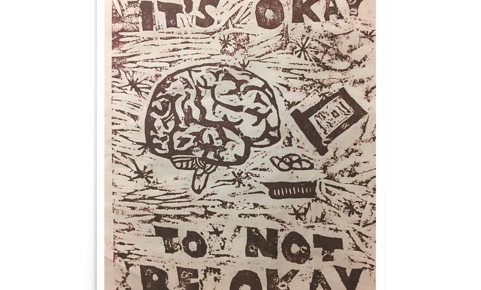 """It's Okay to Not Be Okay"" print"