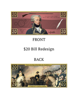 $20 Bill Redesign - Lafayette Memorial Bill