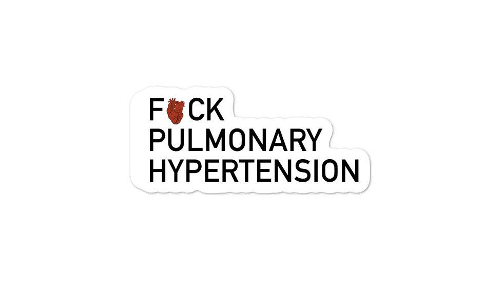 """F*ck Pulmonary Hypertension"" sticker (censored)"