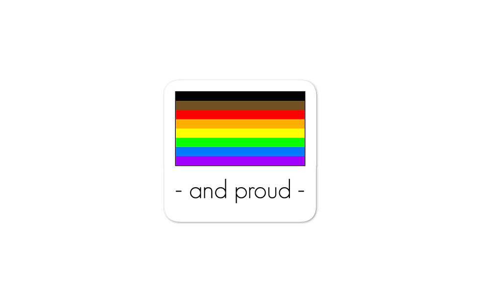 """PoC Pride Flag"" sticker"