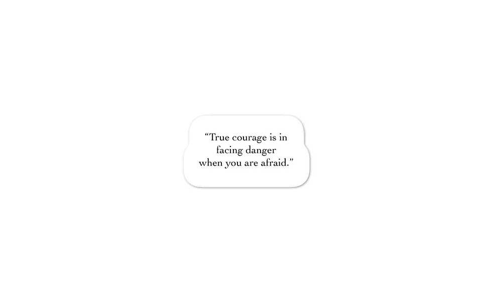 """True Courage"" sticker"