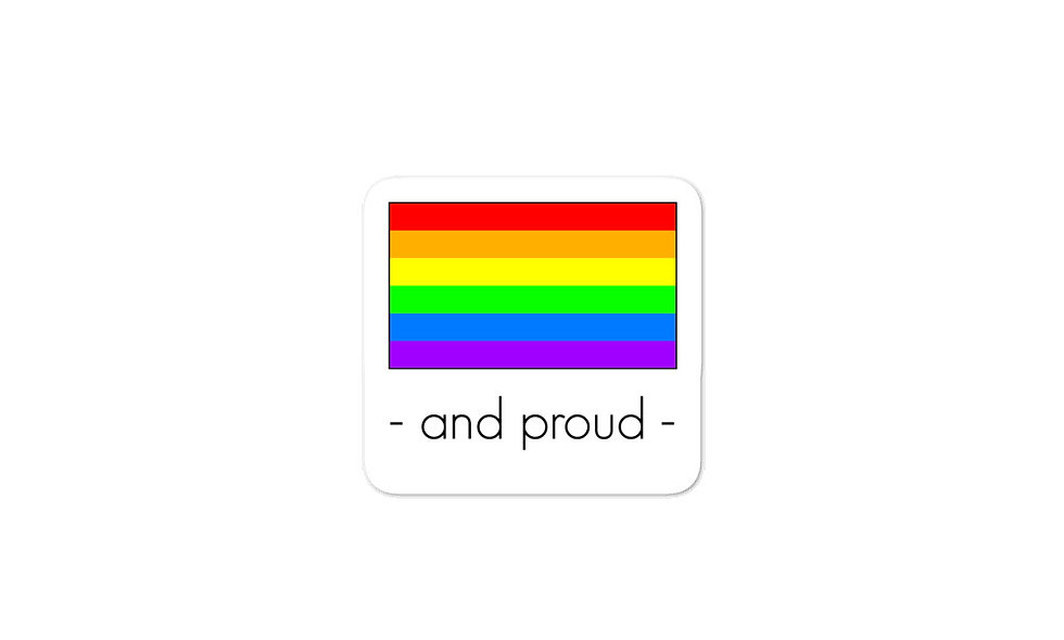 """Gay Pride Flag"" sticker"