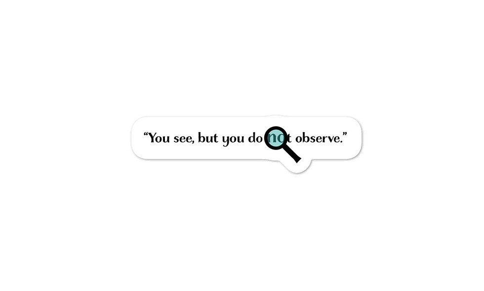 """""""See But Do Not Observe"""" sticker"""