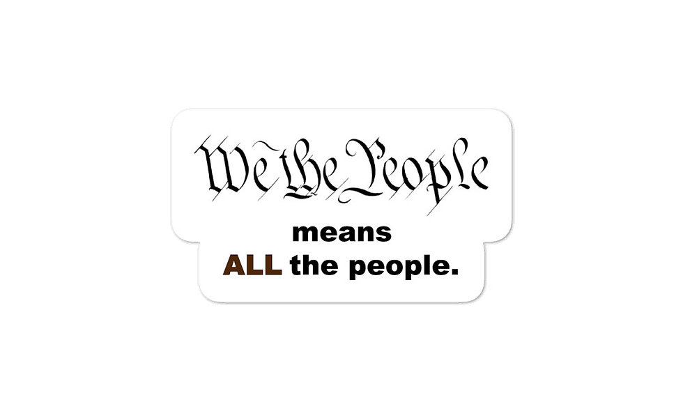 """""""We the People -- BLM"""" sticker"""