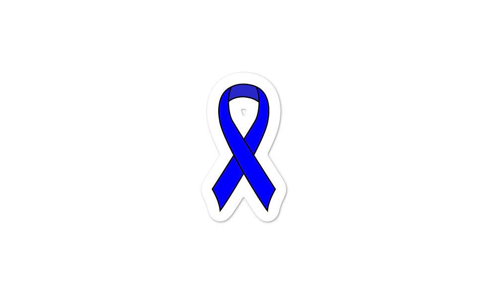 """Blue Awareness Ribbon"" sticker"