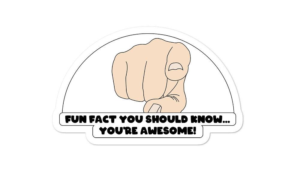 """Fun Fact"" sticker"