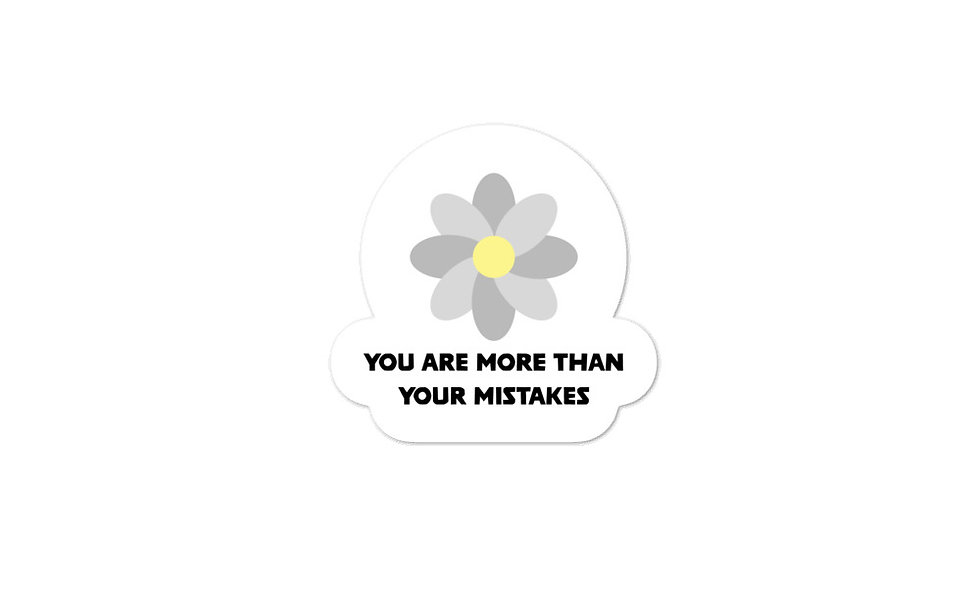 """""""More Than Your Mistakes"""" sticker"""