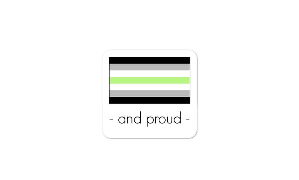 """Agender Pride Flag"" sticker"