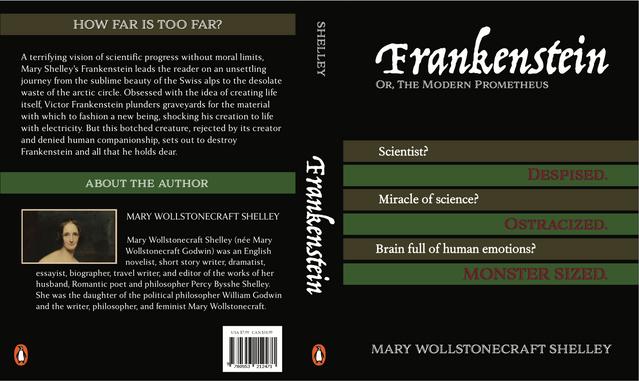"""Rediseño de portada """"Frankenstein"""""""