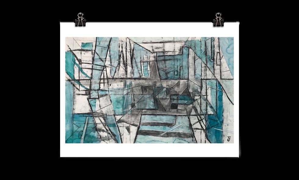 """""""Blue Fractals"""" print"""