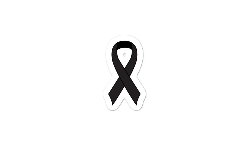 """Black Awareness Ribbon"" sticker"