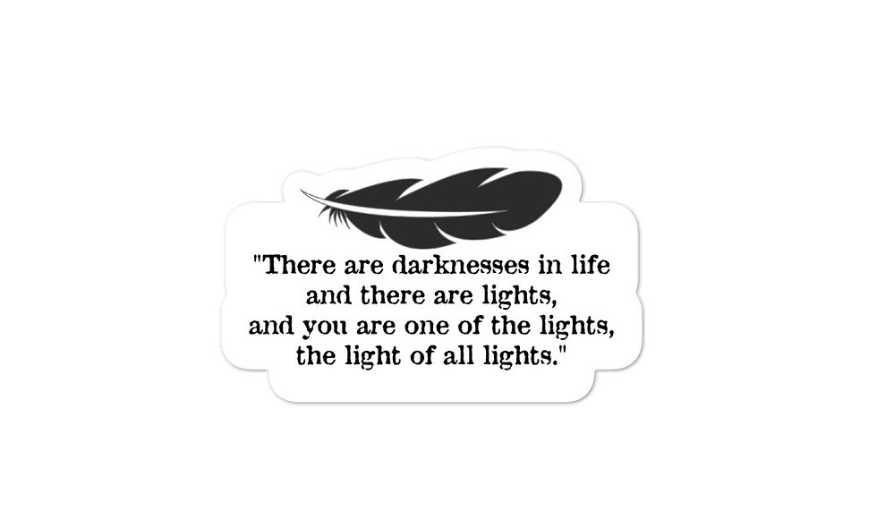 """Light of All Lights"" sticker"
