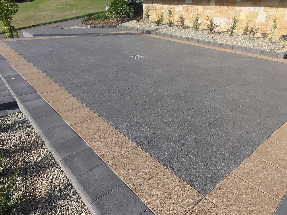 Classic Bluestone & Sandstone Exposed Pavers from Island Block & Paving
