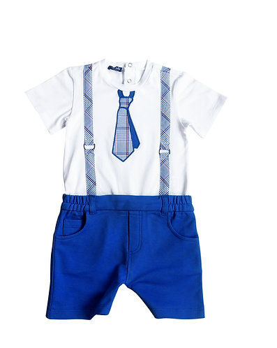 Little Gentleman Babysuit with Tie - 3434BBG1809