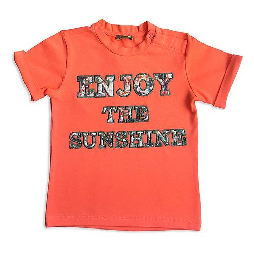 Baby Boy T-shirt in Coral - 3434BBG1530