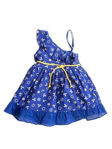Marine Themed Baby Girl Dress - 3434BBG2903