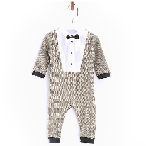 Smart Babysuit with Fitted Bowtie-17FW0BG1808