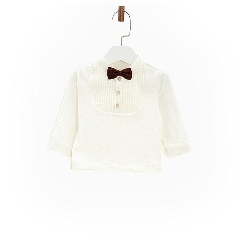 Ecru Shirt with Bowtie-17FW0BG1611