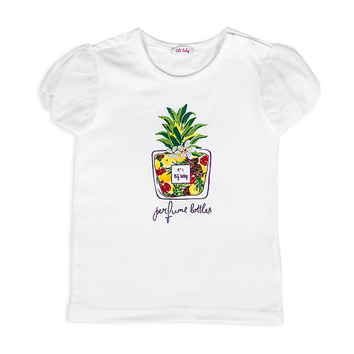 Pinapple Printed Baby Girl T-shirt - 3434BBG2501