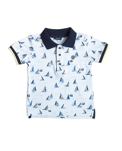 Sail Printed Baby Boy T-shirt - 3434BBG1522
