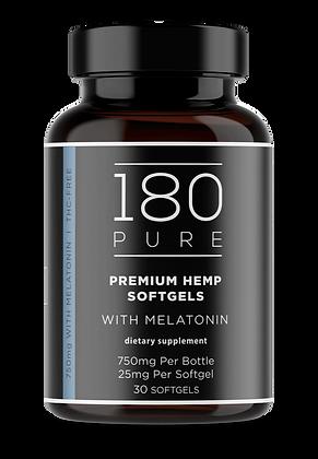 180 PURE CBD Soft Gel Tablet with Melatonin