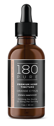 180 PURE CBD Tincture 1500MG Orange